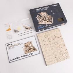 Robotime Circuit de billes, modèle avec tour et ascenseur Puzzles 3d en bois