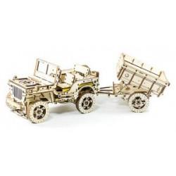 maquette en bois de a remorque de jeep willys , WR 310 Wooden City