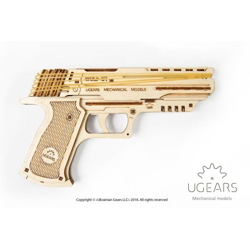 Pistolet Wolf 01, ugears, puzzle 3d fonctionnel