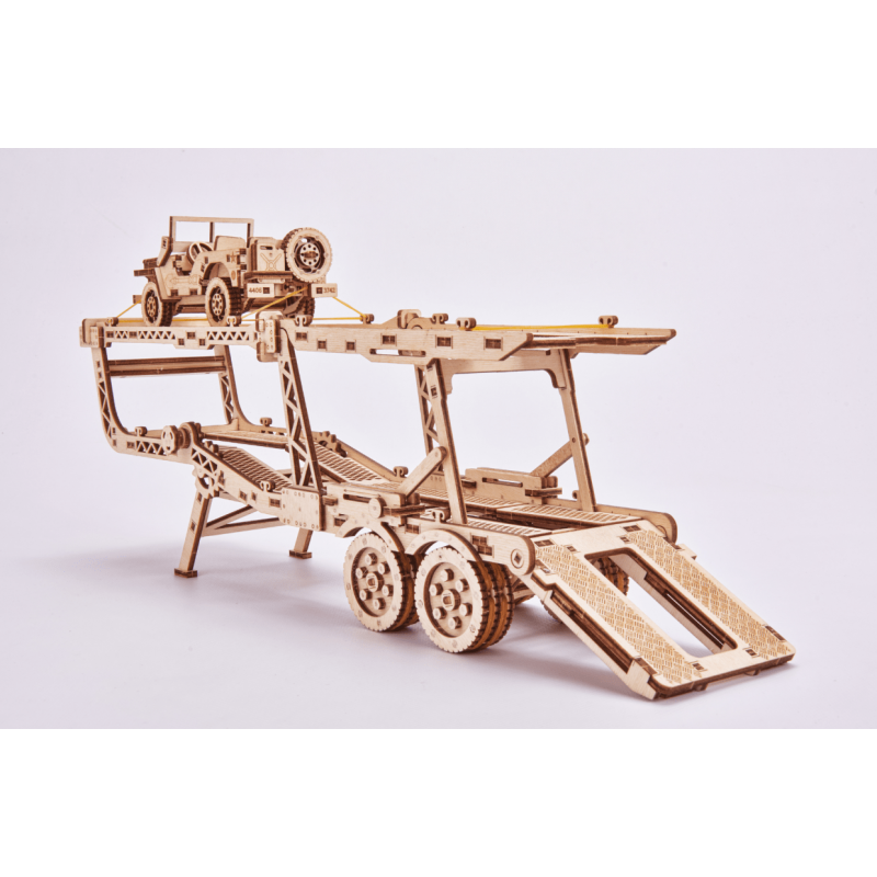 CAR CARRIER TRAILER + JEEP FROM WOOD TRICK