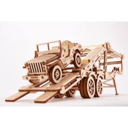 WOOD TRICK Wood Trick, puzzle 3d, remorque porte voiture. Puzzles 3d en bois