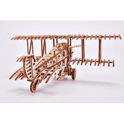 WOOD TRICK Wood Trick, le biplan, puzzle 3d mécanique en bois Puzzles 3d en bois