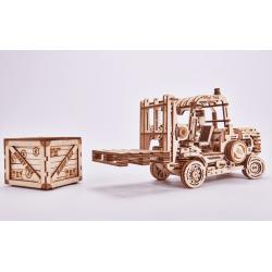 WOOD TRICK Puzzle 3d mécanisé,  en bois, chariot élévateur, Wood Trick Puzzles 3d en bois