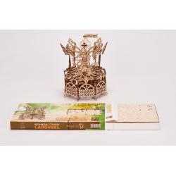 WOOD TRICK Wood Trick, le Caroussel, puzzle en 3 dimensions mécanique. Puzzles 3d en bois