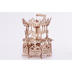 Carousel Wood Trick | jeux de construction en bois | maquette | puzzle 3d | jouet en bois |https://tridipuz.fr