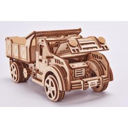 WOOD TRICK Maquette en bois, le camion Benne, Wood Trick. Puzzles 3d en bois