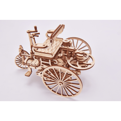 WOOD TRICK Maquette en bois de la première voiture de Daimler Puzzles 3d en bois