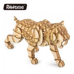 tigre en bois à assembler sans colle, https://tridipuz.fr