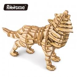 Loup en bois à assembler sans colle, https://tridipuz.fr, Robotime, jeux de construction, puzzle 3d