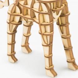 Girafe en bois à assembler sans colle, https://tridipuz.fr, Robotime, jeux de constructions, puzzle 3d