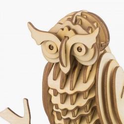 Robotime Maquette en bois animaux, Le hibou, Robotime Puzzles 3d en bois