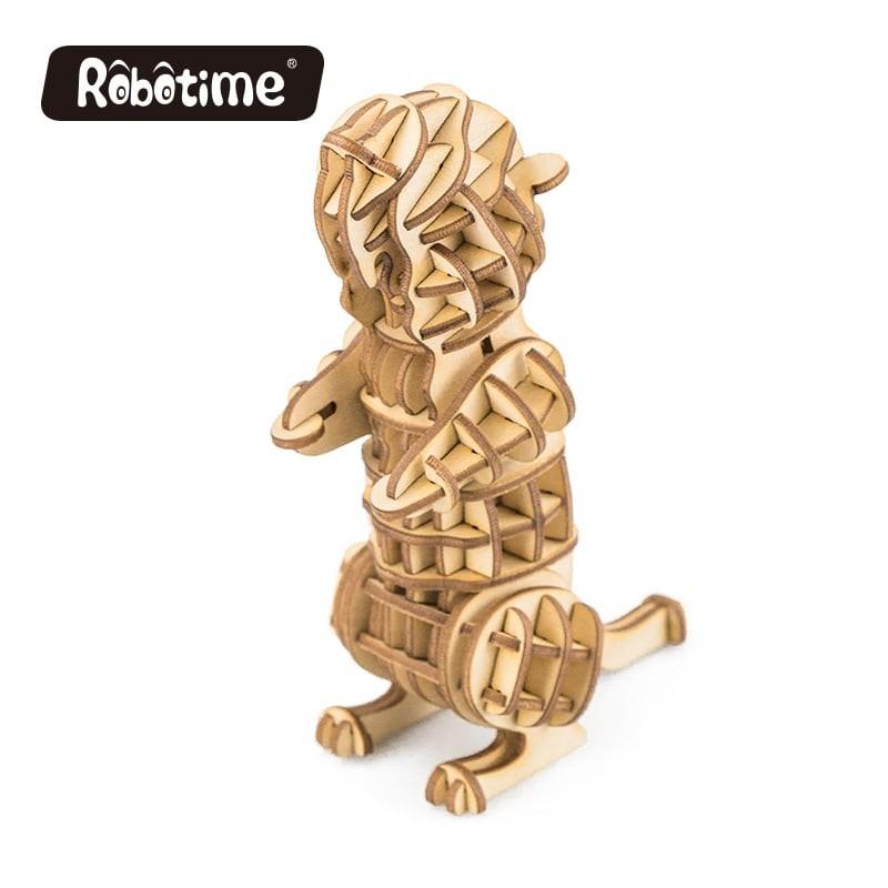 Robotime Puzzle 3d animaux, La marmotte, Robotime Puzzles 3d en bois