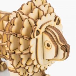 Robotime Puzzle 3d animaux, le Lion, Robotime Puzzles 3d en bois