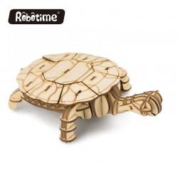Tortue en bois à assembler sans colle, https://tridipuz.fr, Robotime, jeux de constructions, puzzle 3d