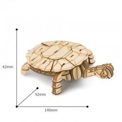 Tortue en bois à assembler sans colle, https://tridipuz.fr, Robotime, jeux de constructions, puzzle 3d, animaux à construire
