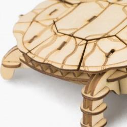 Robotime Puzzle 3d animaux, La Tortue, Robotime Puzzles 3d en bois