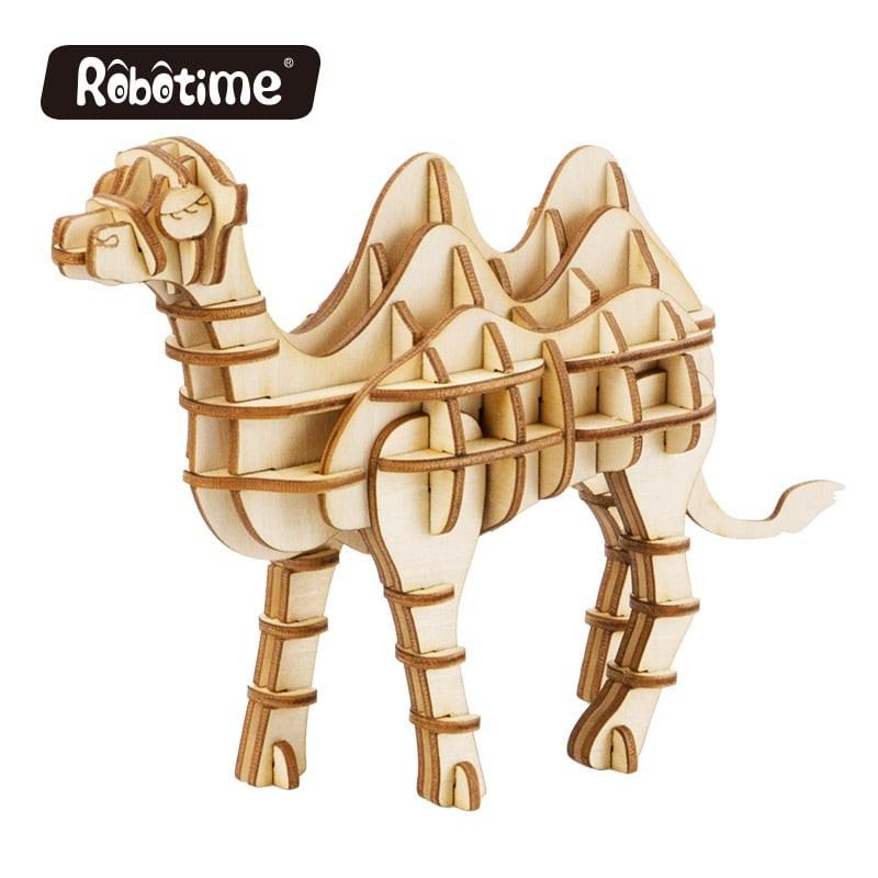 Robotime Puzzle 3d animaux, le Chameau, Robotime Puzzles 3d en bois