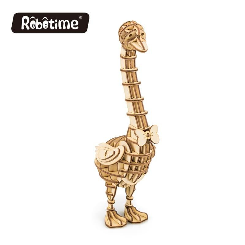 l'Oie en bois à assembler sans colle, https://tridipuz.fr, Robotime, jeux de constructions, puzzle 3d, animaux à construire