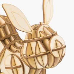 Lapin  en bois à assembler sans colle, https://tridipuz.fr, Robotime, jeux de constructions, puzzle 3d, animaux à construire