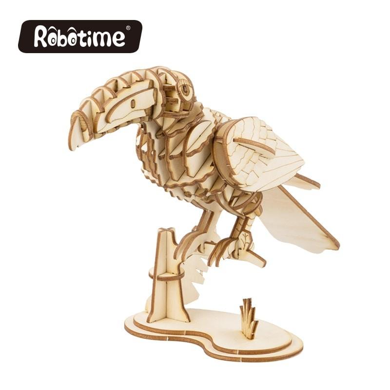 Robotime puzzle 3d animaux, le Toucan, Robotime Puzzles 3d en bois