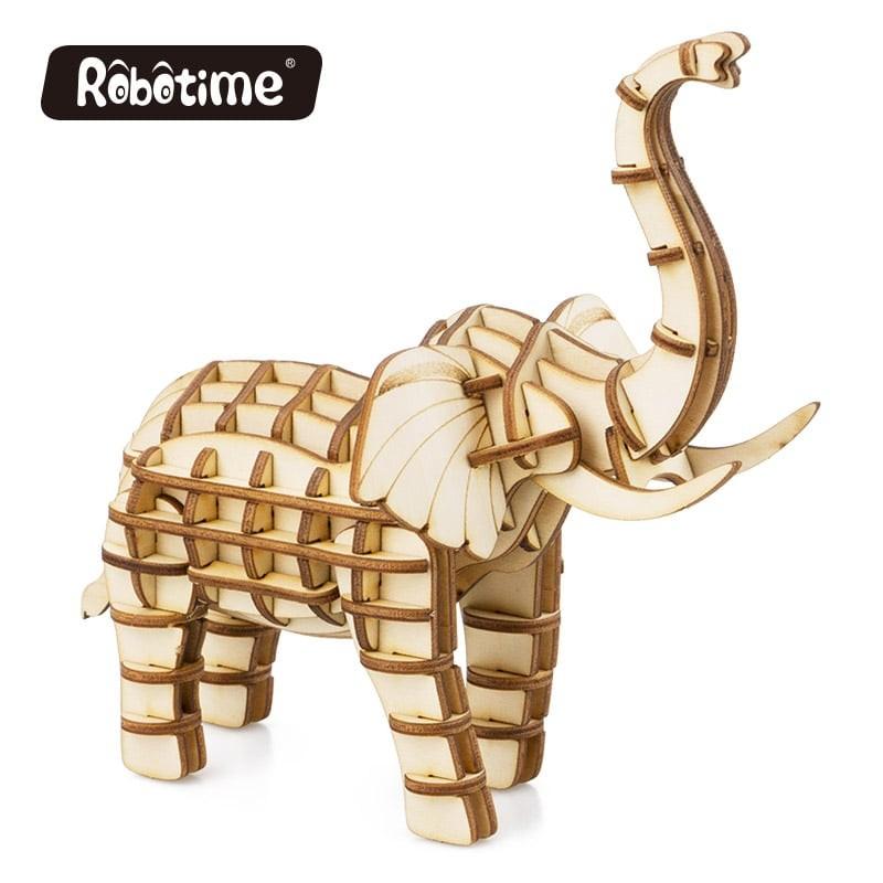 l'Elephant, collection animaux à construire.