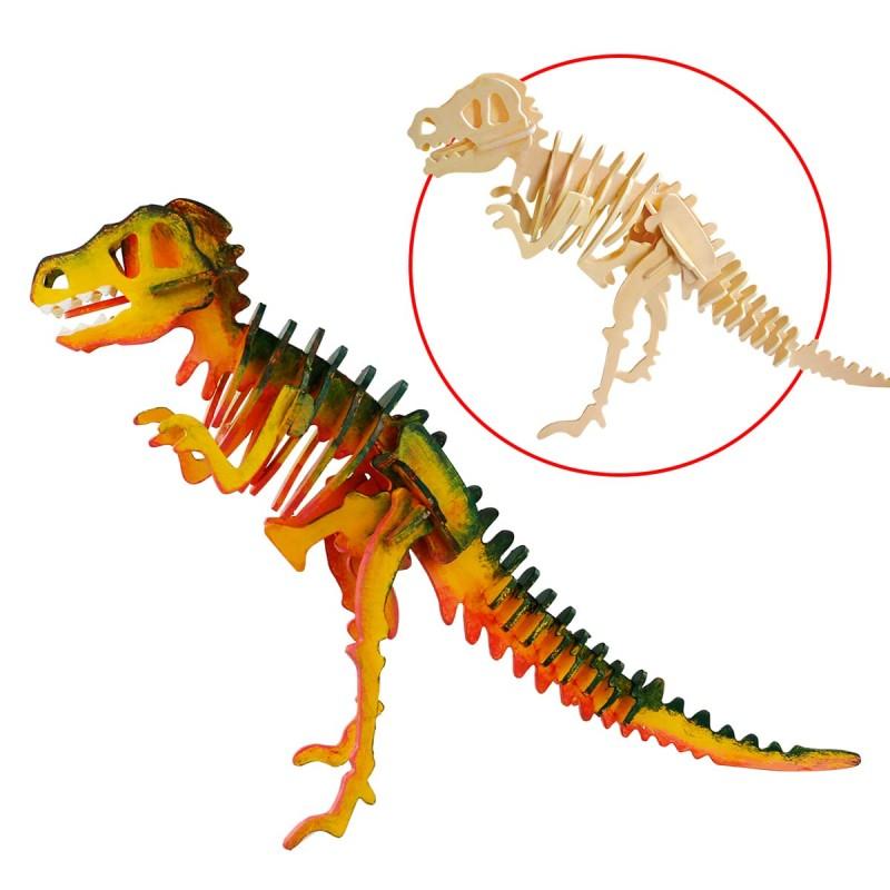 t rex à peindre , robotime, tridipuz.fr, jeux de constructions, loisir créatif pour enfants