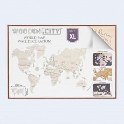 décoration murale, carte du monde en bois, taille xl