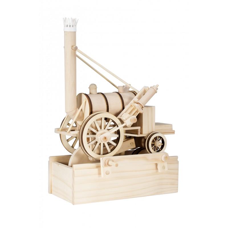 locomotive en bois, la rocket de stephenson, timberkits