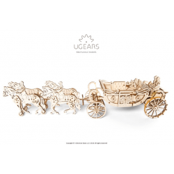 UGEARS Maquette en bois du carrosse royal de Meghan et Henry,  Ugears Puzzles 3d en bois