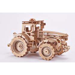tracteur en bois à assembler composé de 401 pièces, nombreuses fonctions wood trick tridipuz.fr