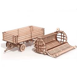 maquette de traceur, la remorque woodtrick, en bois, tridipuz.fr