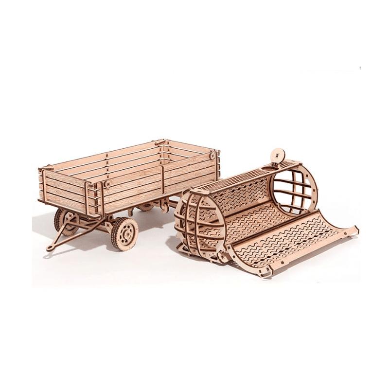 WOOD TRICK Maquette de tracteur, la remorque. Puzzles 3d en bois