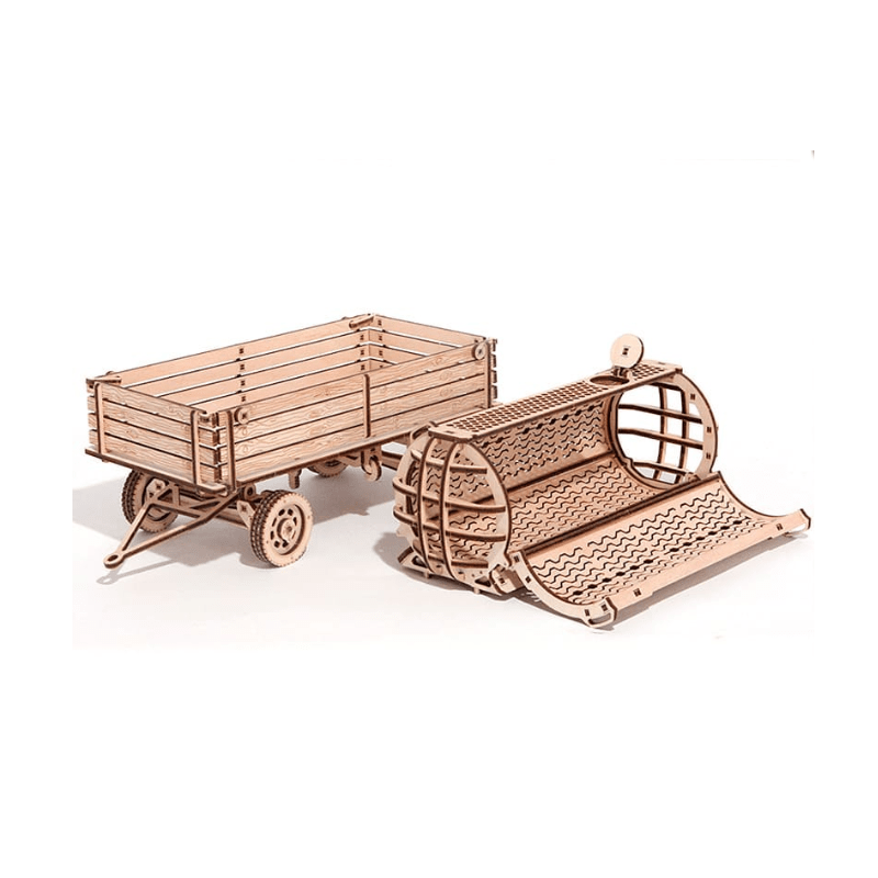wood trick, remorque de tracteur