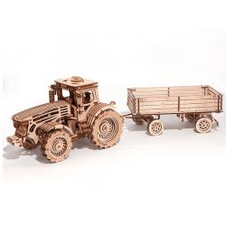 WOOD TRICK Maquette tracteur et remorque , WoodTrick Puzzles 3d en bois