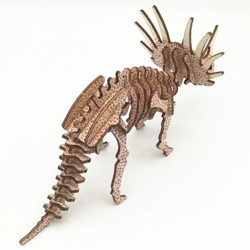 Triceratops à assembler en bois découpé au laser, tridipuz.fr