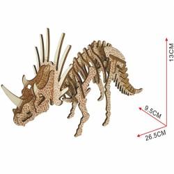 Triceratops, modèle en bois...