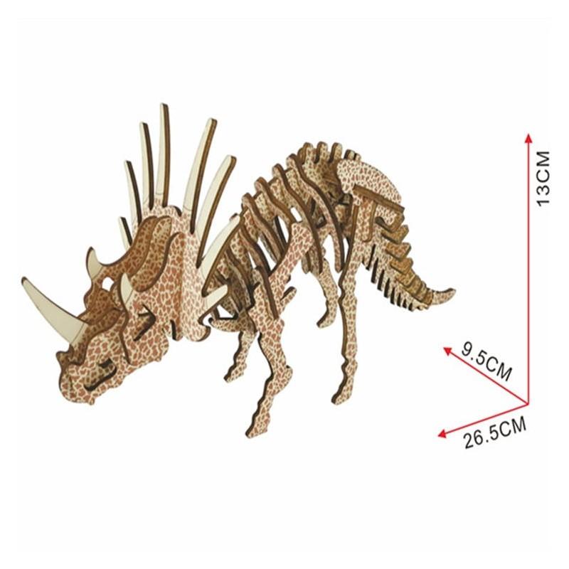 Triceratops, modèle en bois à décorer