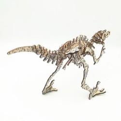 Deinonychus, dinosaure à assembler en bois découpé au laser, tridipuz.fr