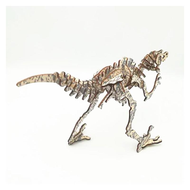 Deinonycus, dinosaure en bois à décorer