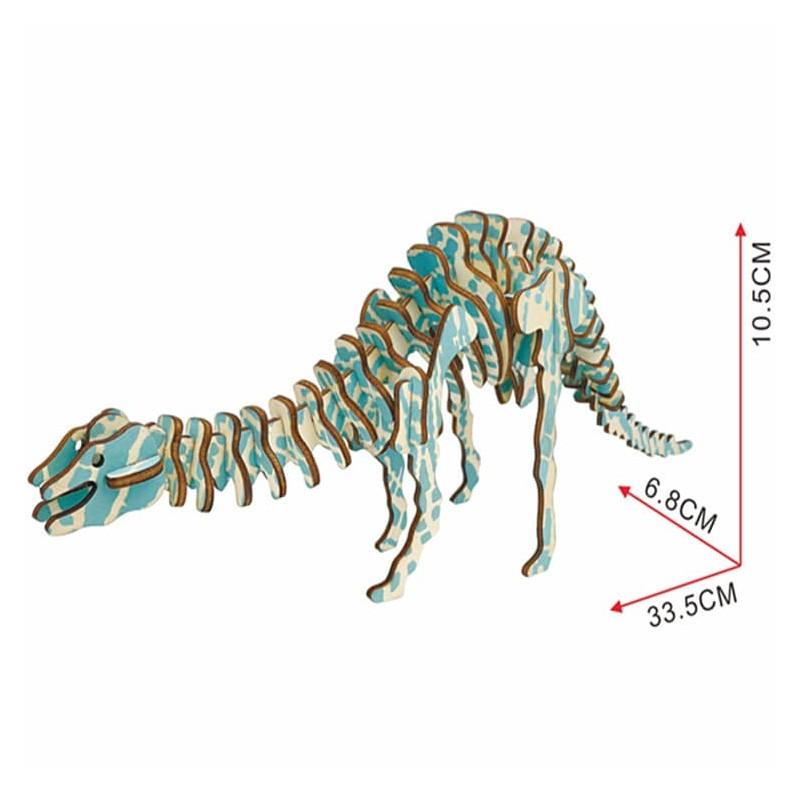 Diplodocus, modèle en bois à assembler