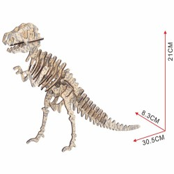 T rex, dinosaure à assembler en bois découpé au laser, tridipuz.fr