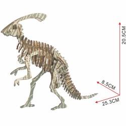 PARASAUROLOPHUS, dinosaure à assembler, en bois découpé au laser