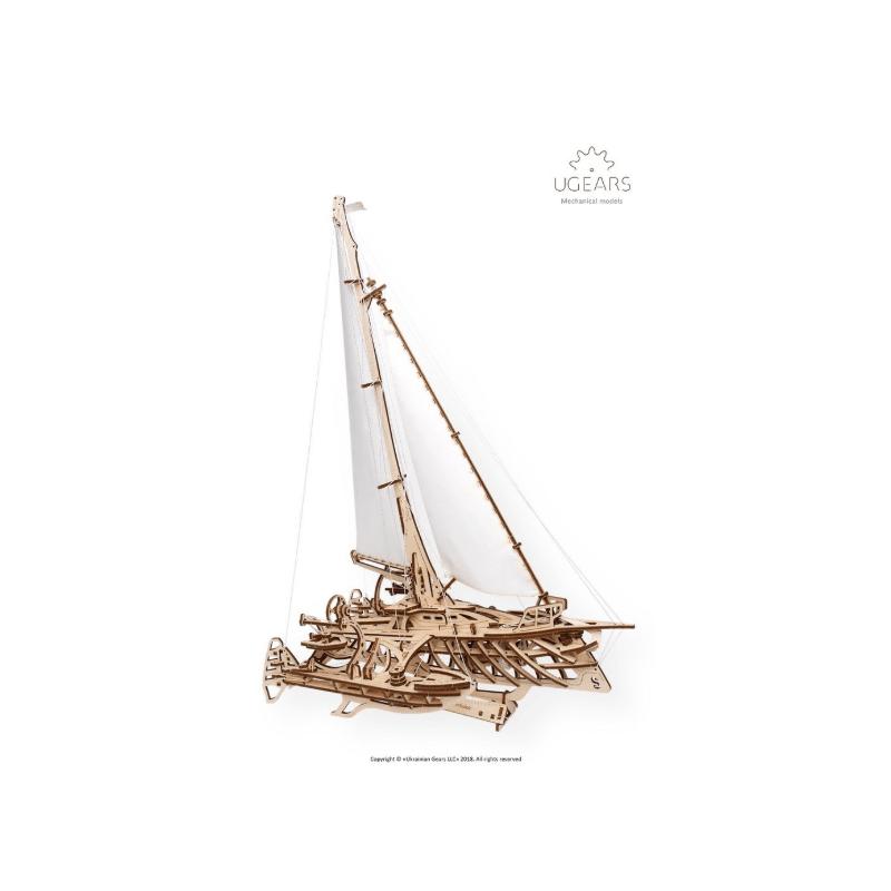Ugears, Trimaran Mérihobus, modèle en bois mécanique