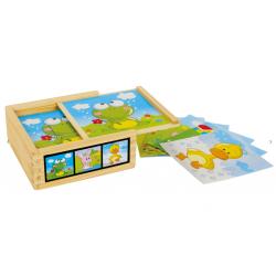 puzzle cubes en bois small foot tridipuz.fr