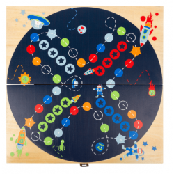 Small Foot Small Foot Ludo Space, Les petits chevaux version spatial ! Accueil
