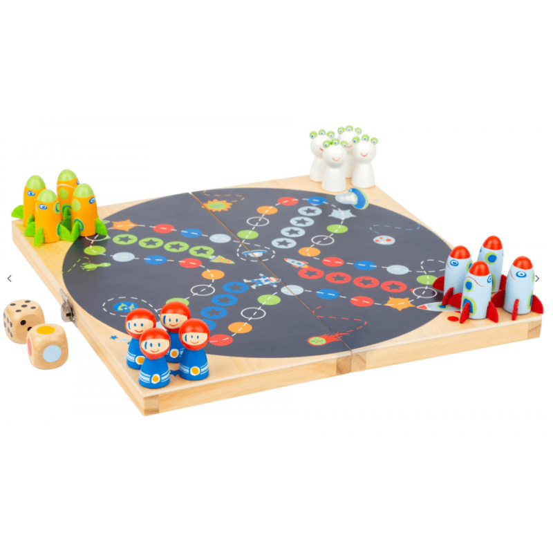 Small Foot Ludo Space, Les petits chevaux version spatiale !