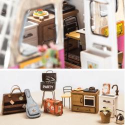 maison de poupée, DIY , dollhouse, paper craft, tridipuz.fr robotime dgm04