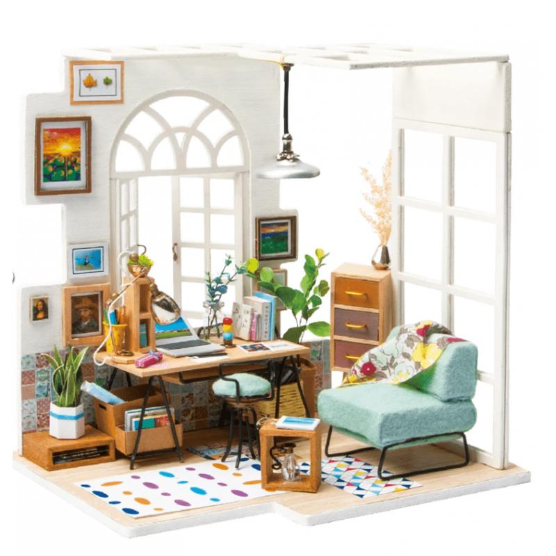 DIY maison de poupée, le salon cosy de robotime DGM01 tridipuz.fr