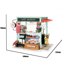 DIY maison de poupée, la patisserie de robotime DGM06 tridipuz.fr