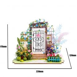 Robotime Diorama, porte d'entrée fleurie, Robotime DGM02 Accueil
